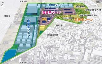 ツインシティ大神地区イメージ図(提供/平塚市ツインシティ大神地区土地区画整理組合)