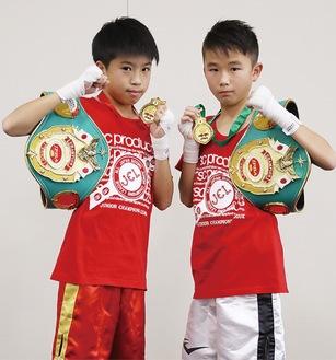 松村一喜選手(左)と吉井康介選手(右)