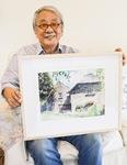 イギリスの田舎町を描いた作品と木下さん