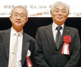 講師を務めた羽根氏(右)と増井会長