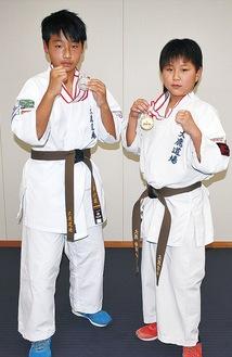 大鹿君(右)と内藤さん(左)