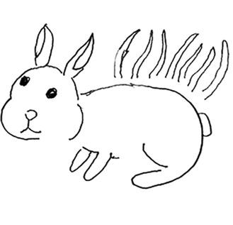 三橋さん作「草むらのウサギ」