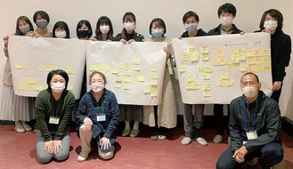 勉強会に参加した大学生と同団体