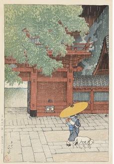東京十二題 五月雨ふる山王 1919年