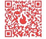 クラウドファンディングのサイトの二次元コード