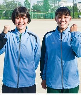 関東へ向け意気込む前田さん(左)と桑原さん