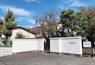 旧平塚商業高校の外観