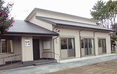 県産材たっぷりの町内会館