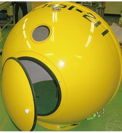 黄色い球体 災害時の希望