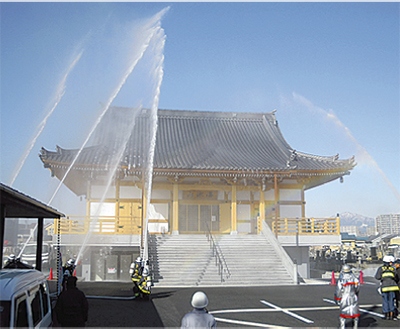 長楽寺で防火訓練