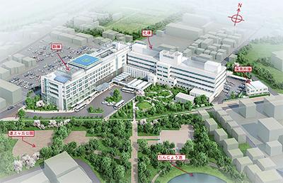 市民病院の完成図を発表