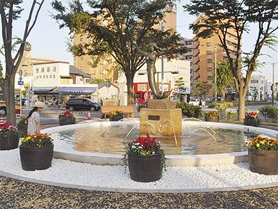 駅南口広場が開放