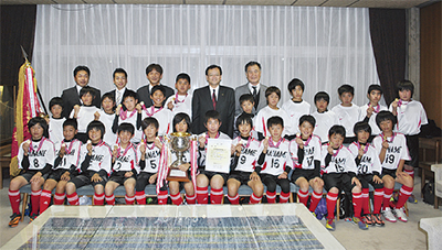 FC金目 選手権Vを報告