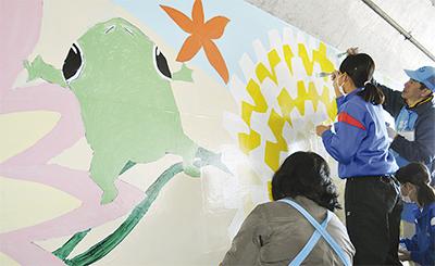 岡崎地下道に壁画