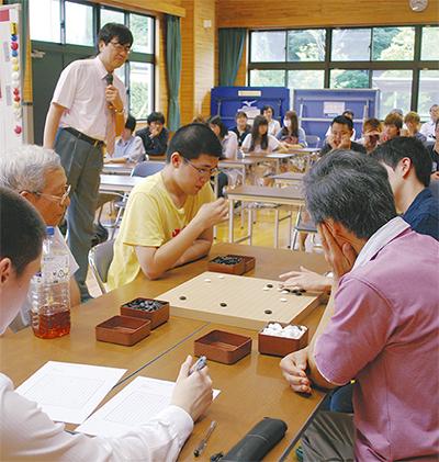 囲碁で地域住民と交流