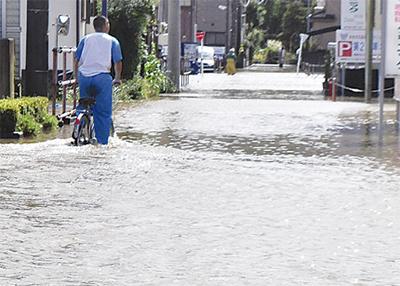 家屋浸水196件