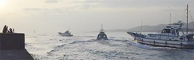 県漁船避難手引きモデルに