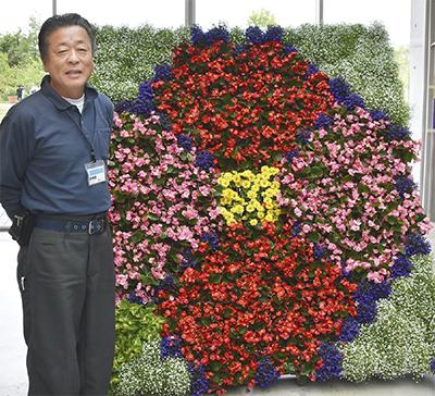 地場産生花で会場彩る