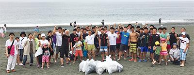 海の幸へ感謝の清掃