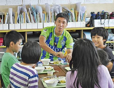 「緑と青」の学校給食