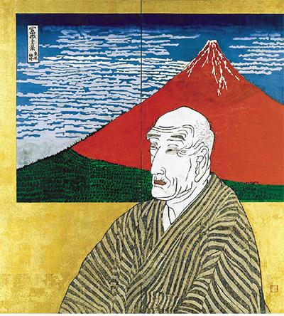 片岡球子《面構 葛飾北斎氏》1971年  神奈川県立近代美術館
