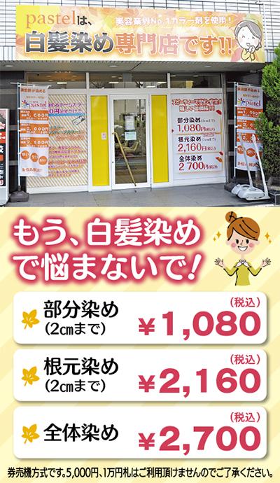 ダメージレスオーガニックカラー2700円