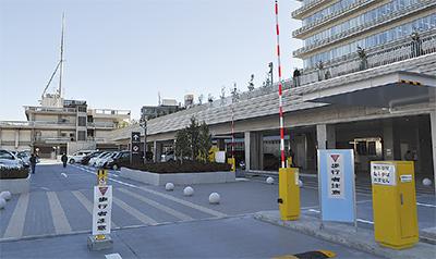 新庁舎の駐車場