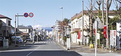 会場となる平塚三嶋神社前