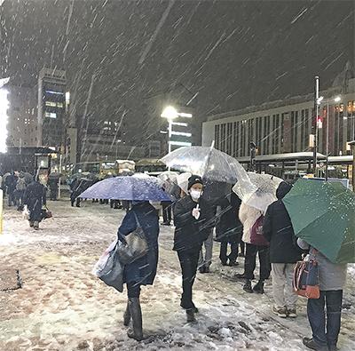 大雪の影響 平塚でも