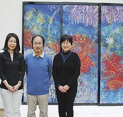市内の日本画家銀座で個展開催