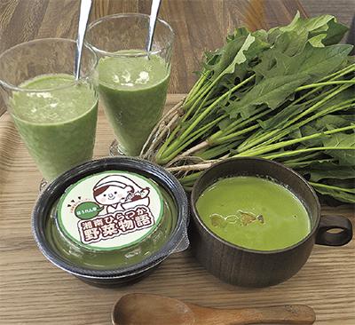 地場産野菜で春スープ