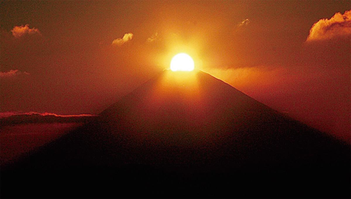 秋のダイヤモンド富士