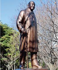 吉田茂像と北の丸公園