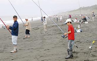 白キス釣りをする参加者