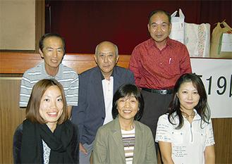 前列左から井田さん、山田さん、高橋さん後列左から山田さん、川野さん、橋本さん