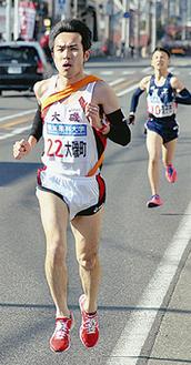2区を走る大磯町の選手