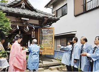 守宮神社での祭典