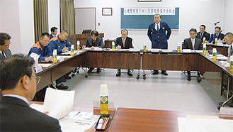行政や交通、ライフラインなどの関係機関・団体の代表が出席した総会