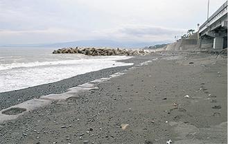 一部分が開放された二宮海岸