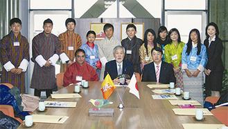 大磯町を訪問したブータンからの留学生たち
