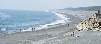 7月6日から開設予定の大磯海水浴場