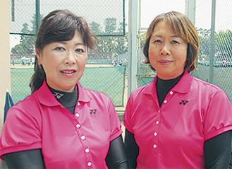 優勝した牛村さん(左)と池上さん