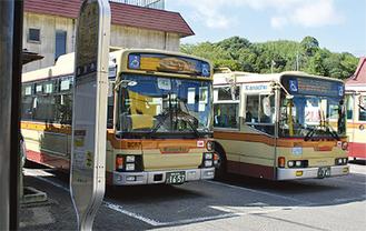 比奈窪のバス停留所
