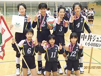 関東大会出場を決めた中井ジュニアの選手(写真提供/中井ジュニア)