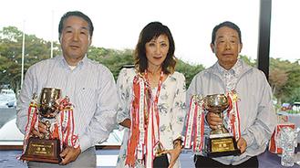 (写真左から)優勝した尾上さん、山田さん、松本さん