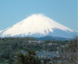 大磯町内からながめる富士山