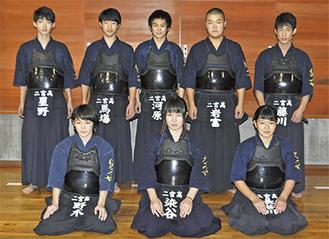 二宮高校剣道部の部員たち