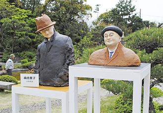 晩年の吉田茂元首相を表現した塑像