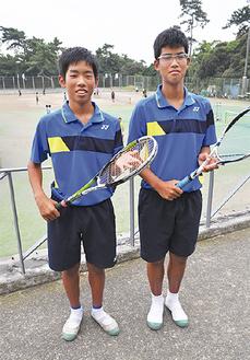 山口君(左)と古枝君
