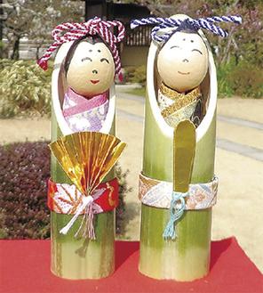 竹細工のおひなさま